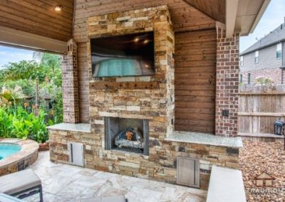 Cinco Ranch_Covered Patio_Fireplace