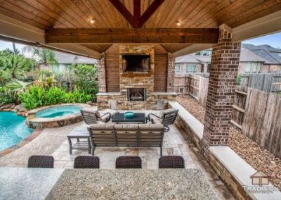 Cinco Ranch_Covered Patio_Outdoor Kitchen_Fireplace
