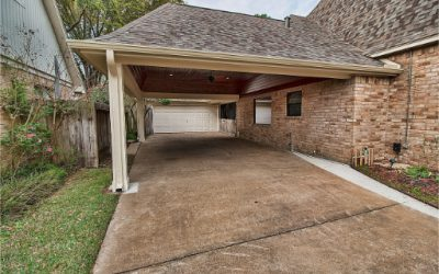 Covered Patio with Carport in Katy