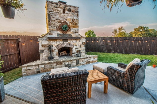 Wood Burning Fireplace in Katy
