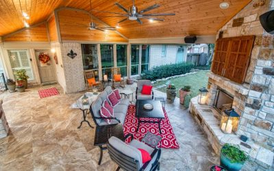 Cypress Patio Cover and Fireplace