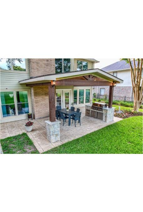 Richmond Patio Cover with Outdoor Kitchen