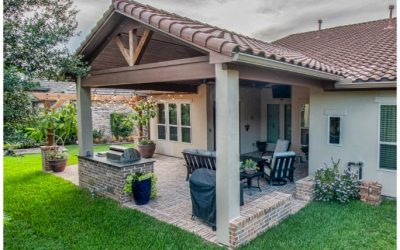 Sugarland Patio Cover with Outdoor Kitchen
