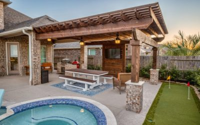 Covered Pergola in Cypress