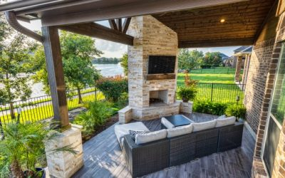 Cross Creek Patio Cover with Fireplace